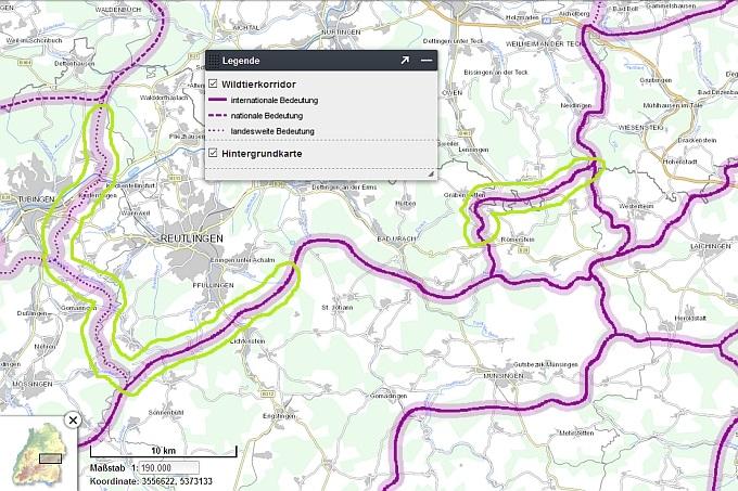 Wildtierkorridoruntersuchung II - Daten- und Kartendienst der LUBW (Landesanstalt für Umwelt)