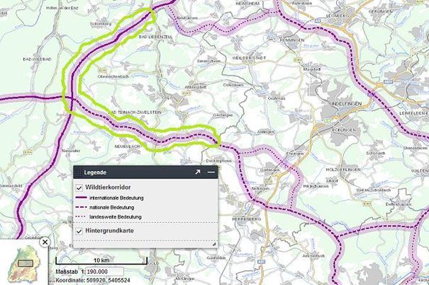 Wildtierkorridoruntersuchung V - Daten- und Kartendienst der LUBW (Landesanstalt für Umwelt)