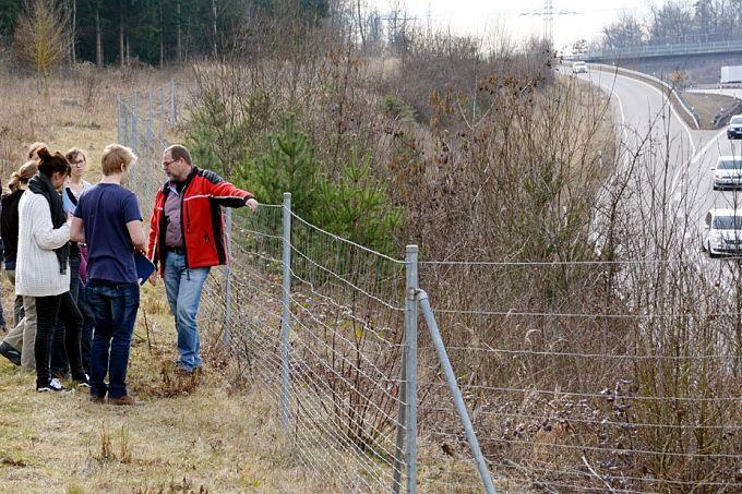 Erläuterung der Grünbrücke B 295 bei Leonberg - Foto M. Pagel