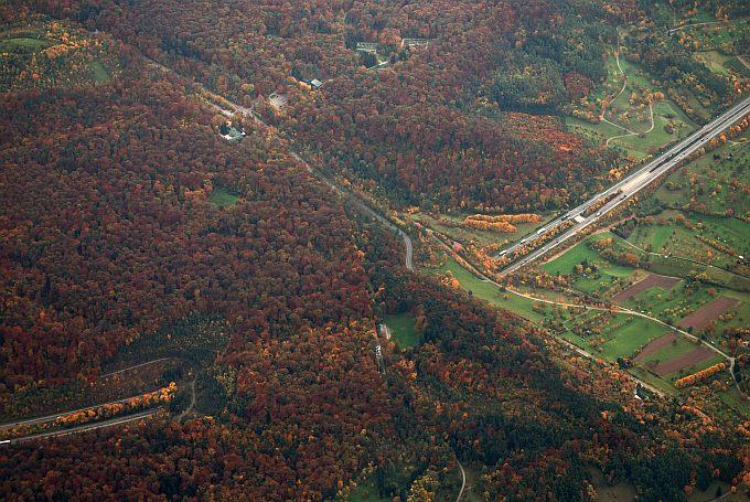 Schönbuchtunnel von oben - Foto: F. Stein