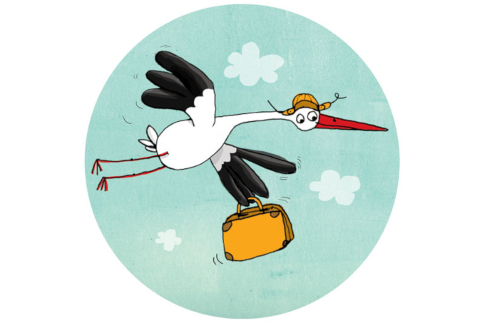 Logo Storchenpost - Grafik: NAJU / J. Friese